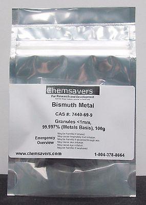 Bismuth Metal Granules 1mm 99.997 Metals Basis 100g