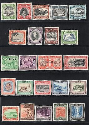 1944-50 Niue. SC#77-85, 90-103. SG#89-122. Mint, Lightly Hinged, VF.