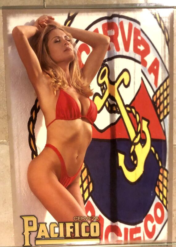 """NEW PACIFICO BEER HOT SEXY BLONDE BEER POSTER 18"""" X 26""""  BIKINI  SWIMSUIT"""