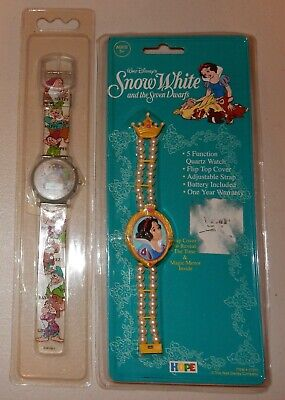 Used, 2 Vintage New OLD STOCK Snow White Watches Needs Batteries for sale  Shipping to India