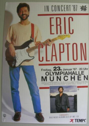 ERIC CLAPTON CONCERT TOUR POSTER 1987 AUGUST