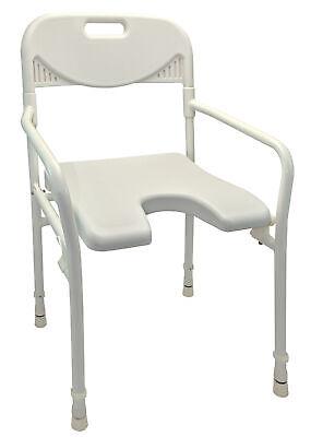 Faltbarer Duschstuhl (Duschstuhl mit Arm- und Rückenlehne, faltbar)