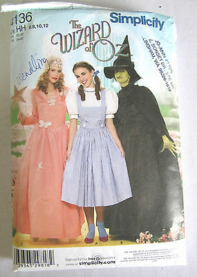 MISSES WIZARD OF OZ-WICKED WITCH-GLINDA COSTUME SEWING PATTERN SZ 6-12](Glinda Wicked Costume)