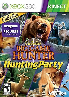 NEW SEALED Cabela's Big Game Hunter: Hunting Party XBOX 360 Video Game Kinect for sale  Shipping to South Africa