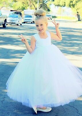 Wedding Cotton Tutu Flower Girl Dresses Tutu Dress Pageant Dresses Princess Gown - Cotton Flower Girl Dresses