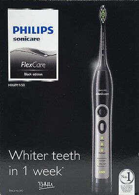 Philips Sonicare FlexCare Sonic Electric Toothbrush Rechargeable HX6911/50 Black