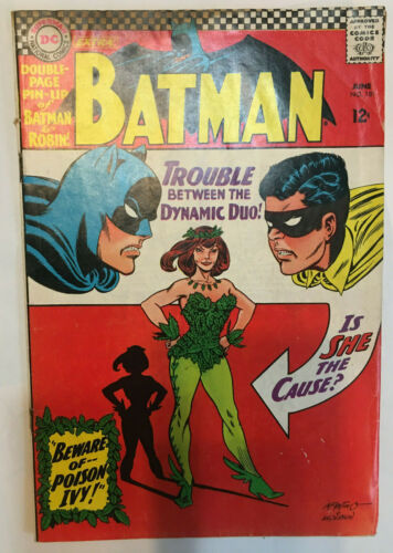 BATMAN #181 KEY 1ST POISON IVY W/ PIN-UP COMPLETE Tight Copy DC Silver