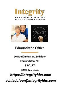 Integrity Home care/Nous embauchons/ Now hiring