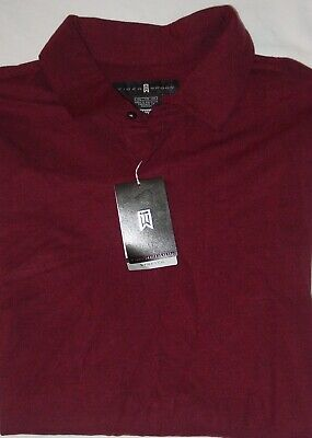 NWT EMBROIDERED TIGER WOODS NIKE LONG SLEEVE POLO SHIRT-EXTENSIBLE STRETCH-2XL