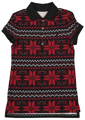 Polo RL Little Girls (7-16) Christmas Snowflake Pattern Mesh Dress - Girls Christmas Dresses 7-16