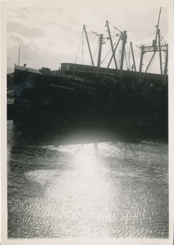 1946 Ship Mahimahi unloading cargo in Hilo Harbor,  Hawaii Photo