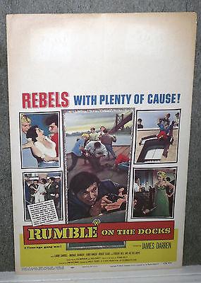 Rumble On The Docks Orig Movie Poster James Darren Robert Blake Timothy Carey