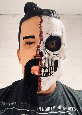 White Male Man Skull Mask Day of the - Adult Day Of The Dead Skull Maske
