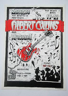 Albert Collins Ledgendary Blues Guitariest 1973 Original Concert Poster
