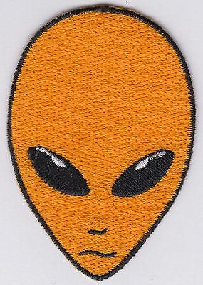 Alien Patch Iron On Alien Head UFO Roswell AREA 51