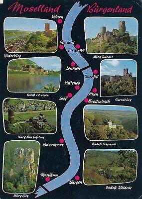 Alte Postkarte - Moselland Burgenland