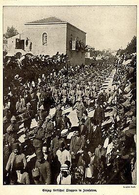 Einzug türkischer Truppen in Jerusalem * Weltkriegs- Bilddokument von 1915