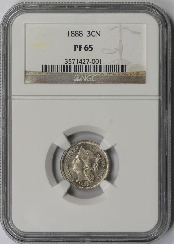 1888 3CN NGC PF 65 Nickel Three-Cent Piece