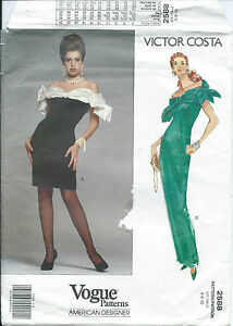 Vogue-2588-sewing-pattern-slinky-DRESS-sew-FAB-vintage-VICTOR-COSTA-sizes-6-8-10