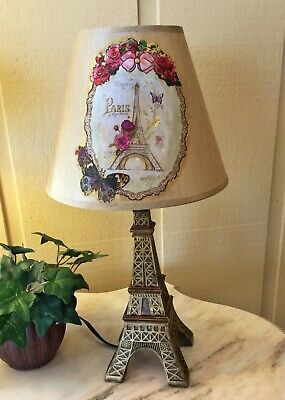 "Eiffel Tower Lamps - 19"" Paris Eiffel Tower Table Lamp Nightstand Desk Vanity Accent Home Decor"