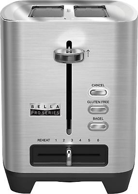 Bella - Pro Series 2-Slice Wide/Self-Centering-Slot Toaster