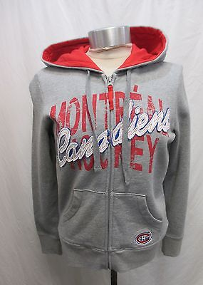 Montreal Canadiens Ladies Hoody Sweatshirt (Montreal Canadiens Women Medium Gray G-III Full Zip Hoodie Sweatshirt NHL)