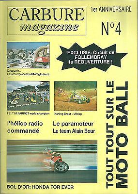 Carbure magazine n°4 1990 karting kart cross moto alain bour sport automobile