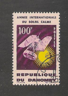 Dahomey #197 (A28) VF USED - 1964 100fr Nimbus Weather Satellite