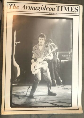 "THE ARMAGIDEON TIMES 1979 THE CLASH UK PROGRAM ""AS IS"" CONDITION"