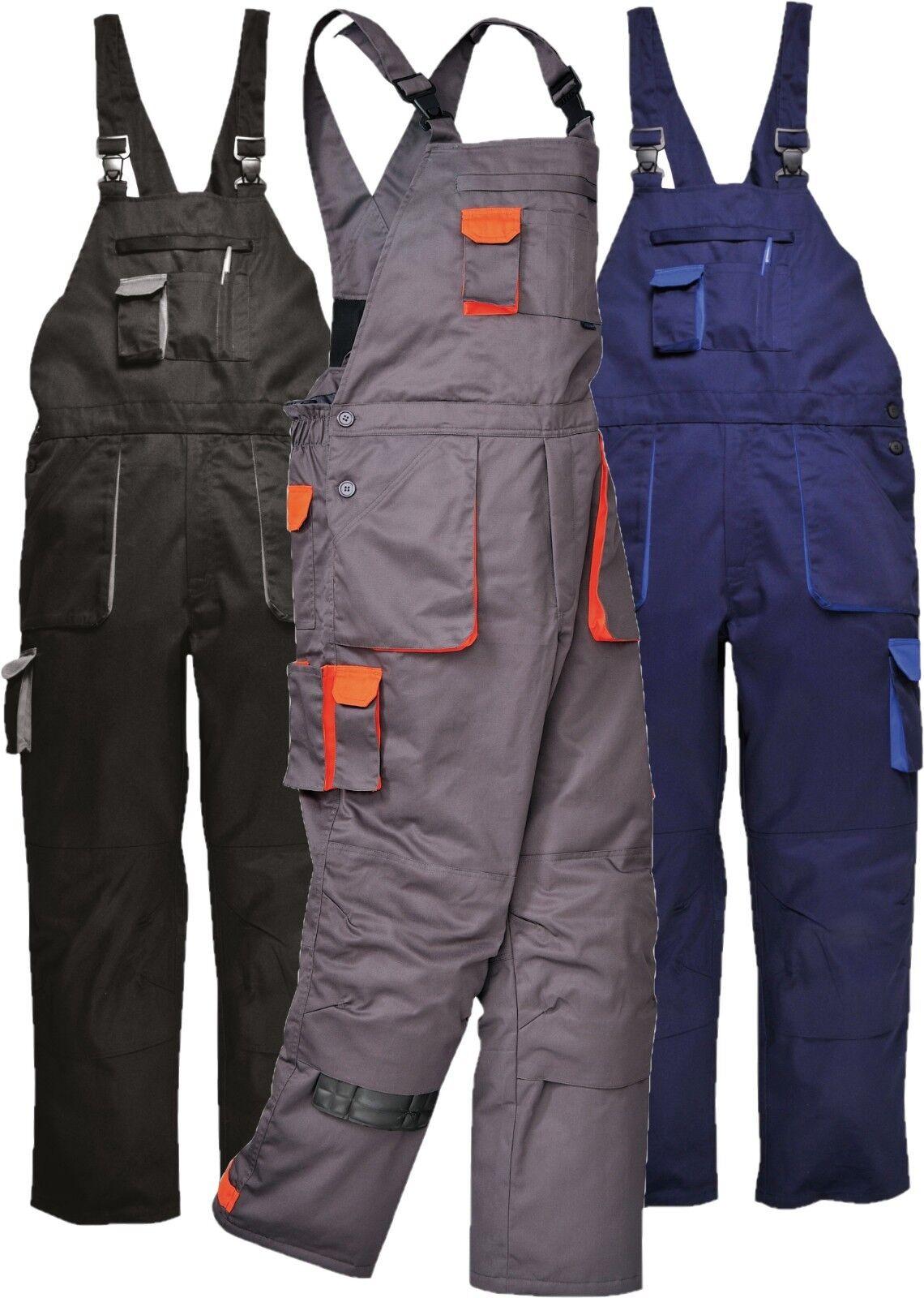 Portwest TX17 Bib /& Brace Warm Lined Texo Contrast Painters Work Wear Dungaree