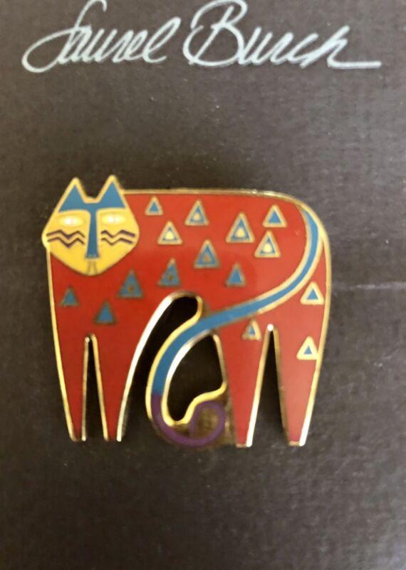 "Laurel Burch Brooch Pin ""Miyo"" Cat Vintage Retired NEW 1990"