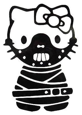 Hello Kitty Hannibal Halloween Gothic Bondage Vinyl Sticker Decal / Transfers