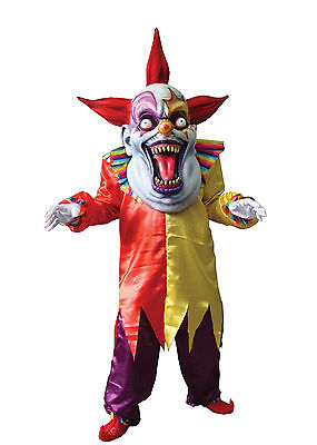 Charades Mens Hi Ya Roy Evil Clown Skull Hoodie