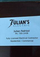 Semi retired electrician. Fast service. Low-cost