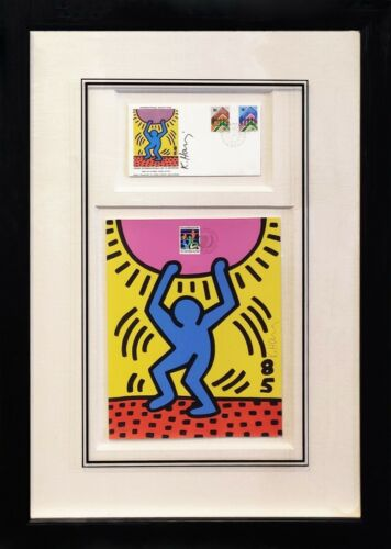 """Keith Haring """"international Youth Year"""" 1984 