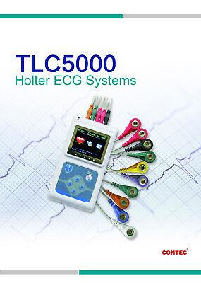 Dynamic 12-channel 24h Ecgekg Holter Tlc5000 System Recorder Software Analyzer