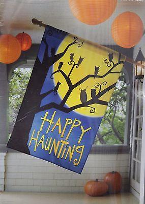 HAPPY HAUNTING HALLOWEEN FLAG Decoration Party Home Decor Seasonal Target NEW (Target Halloween Decor)