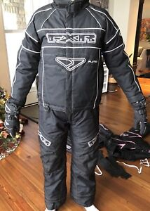 Youth 10 FXR Racing Snowmobile Jacket, Pants, Gloves w F.A.S.T.