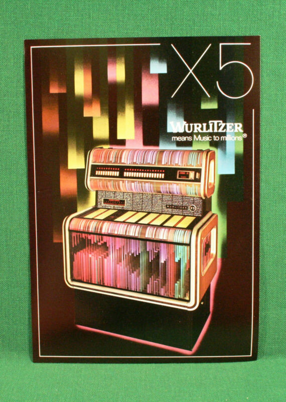 Original Wurlitzer X5 Jukebox Brochure