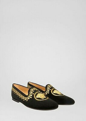VERSACE EMBROIDERED MEDUSA HEAD LOAFERS SZ 44EU / 11US