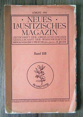 R. Jecht Neues Lausitzisches Magazin Band 113 Görlitz 1937 Schlesien Oberlausitz