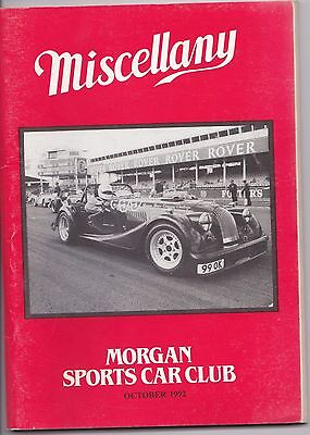 MISCELLANY MORGAN SPORTS CAR CLUB MAGAZINE OCTOBER 1992 POST FREE