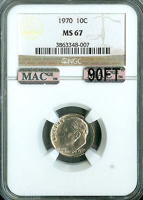 Click now to see the BUY IT NOW Price! 1970 ROOSEVELT DIME NGC MAC MS67 90FT PQ SOLO FINEST GRADED SPOTLESS