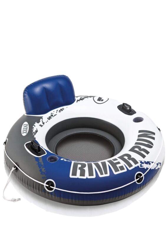 Intex River Run 1 Lounge Inflatable Floating Water Tube Raft for Lake Pool Ocean