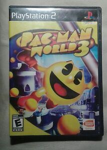 Pacman  3 Playstation  2 game complete  plays perfect
