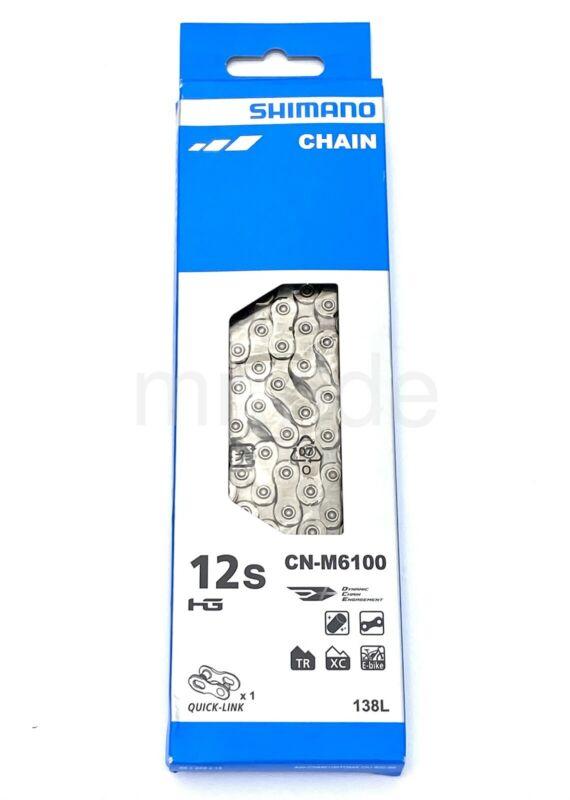 Shimano DEORE CN-M6100 MTB Bike E-Bike Chain, HG 12-Speed W/Quick link 138Link