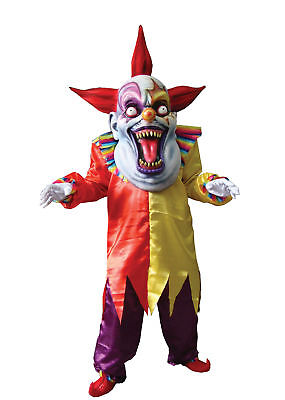 Evil Clown Suit Red Yellow Oversize Costume Colorful Tunic Halloween Dress Up