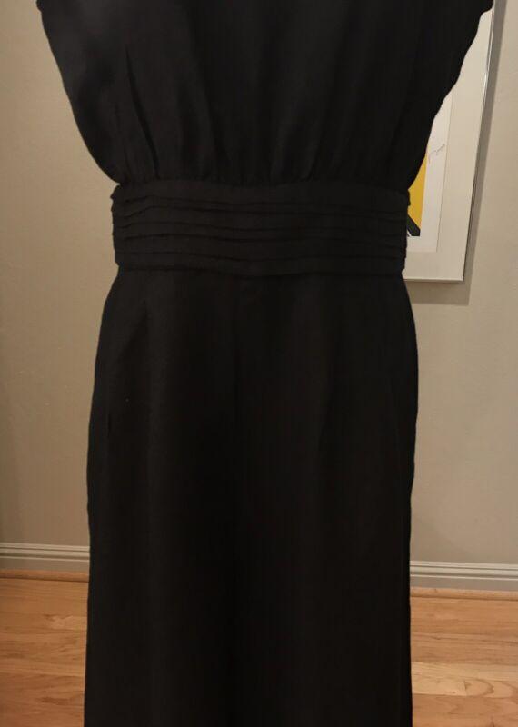 No. 6 Store New York Black Linen Jumpsuit Size 3