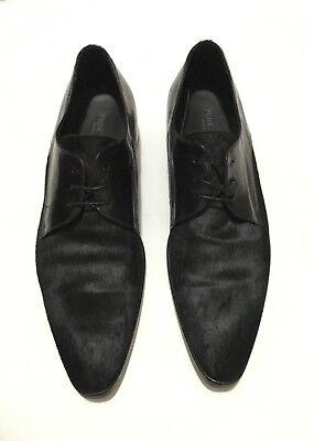 Prince Oliver Dior Black Schwarz Pony Leder Halbschuhe Oxford Derby Shoes EU 41 for sale  Shipping to Nigeria