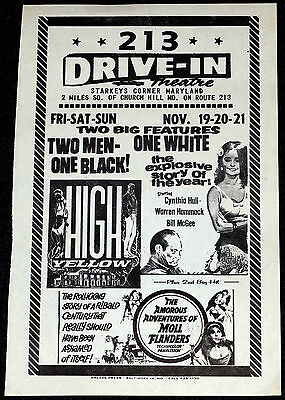 Larry Buchanan's HIGH YELLOW 1965 ORIGINAL 8x5 MOVIE HERALD! RACISM EXPLOITATION